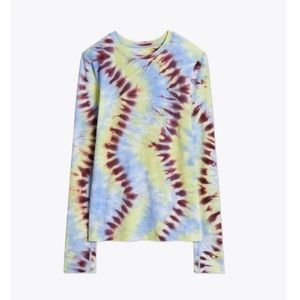 BRAND NEW Tory Burch Tie Dye Seamless Long Sleeve